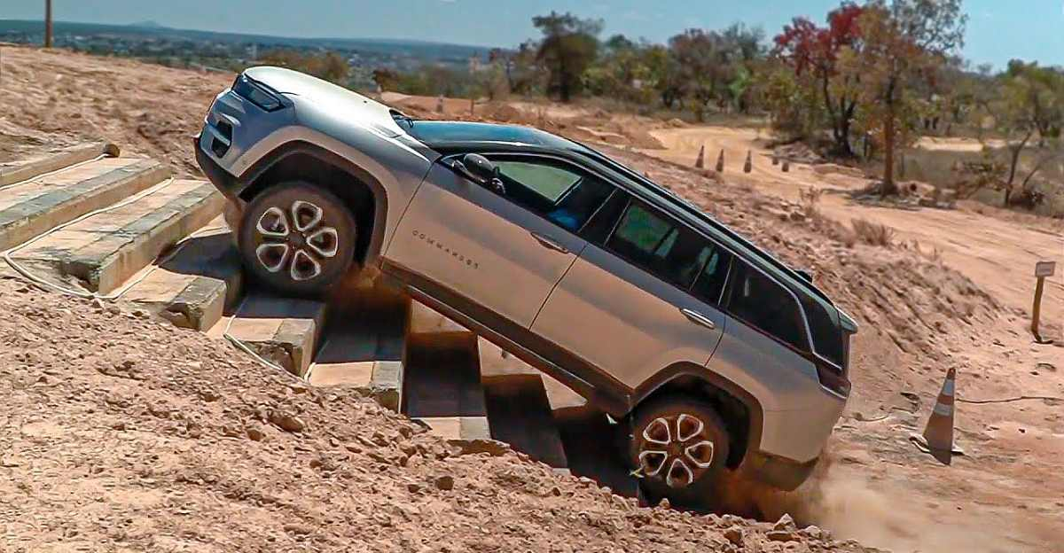 India-bound Jeep Commander 7 seat SUV shows off its off-road prowess