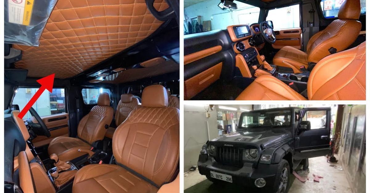 Mahindra Thar with fully customised interior is luxurious