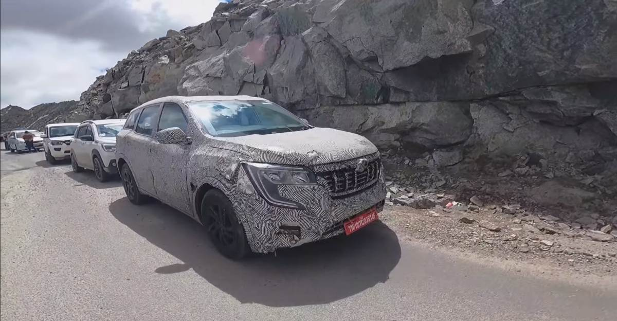 Mahindra XUV700 All Wheel Drive Diesel variant spied at Ladakh ahead of launch