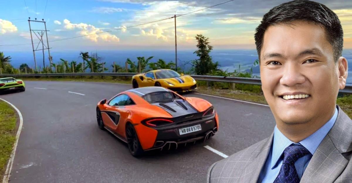 CM thrilled after supercars speed past him on Arunachal highway: Postssupercar videos