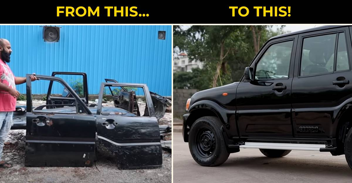 Rusted Mahindra Scorpio transformed into a brand-new SUV