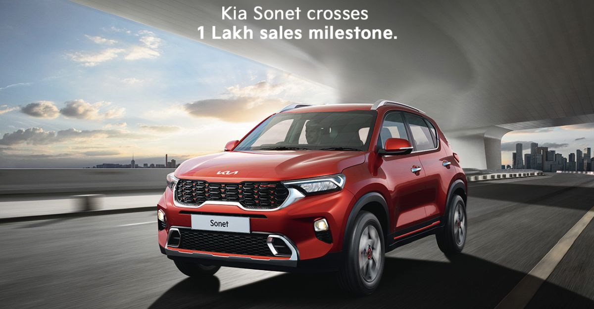 Kia Sonet sales cross 1 lakh mark in less than 12 months of launch