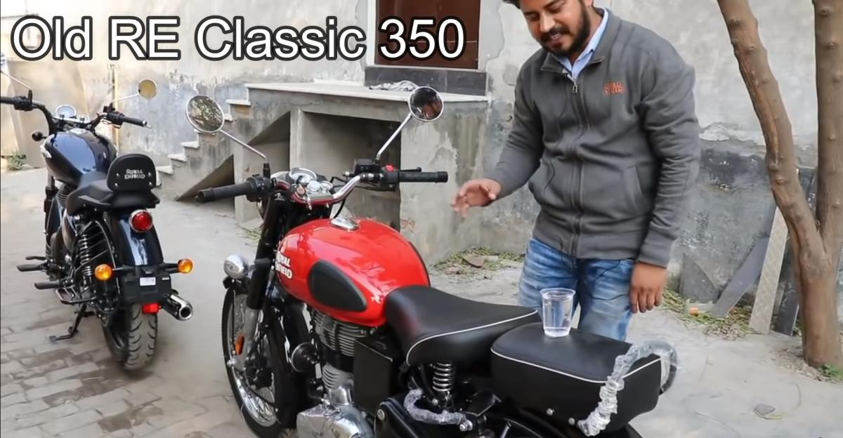 All-new Royal Enfield Classic 350 vs Old Classic 350 in a 'Vibration Test' [Video]