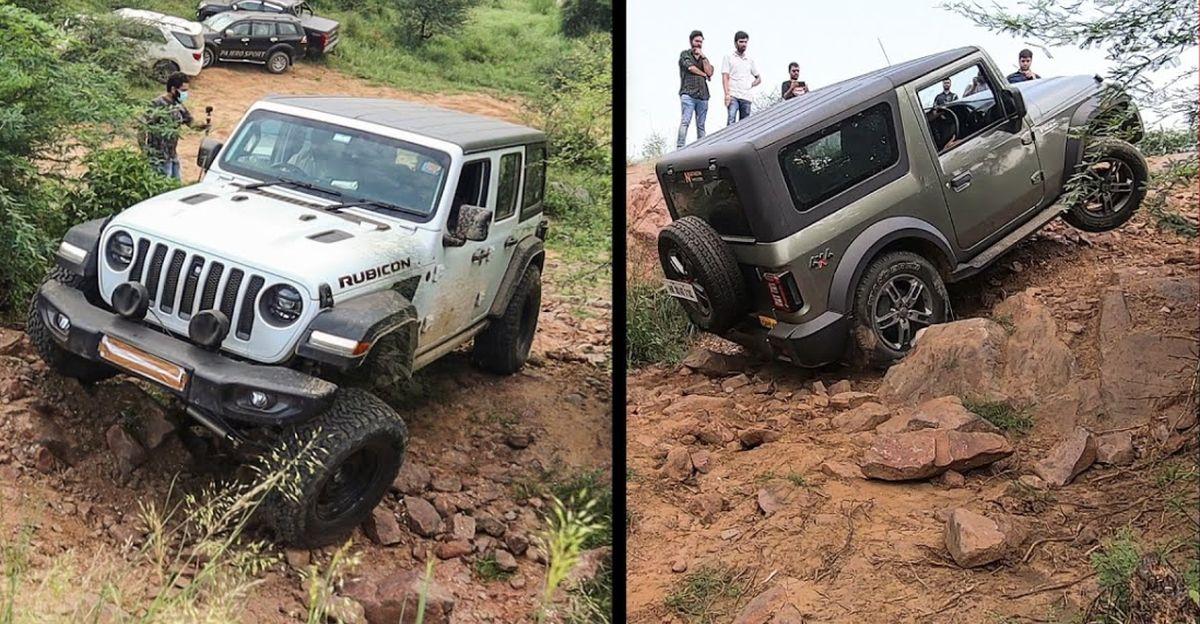 Watch Jeep Wrangler Rubicon, Mahindra Thar, V-Cross & other SUVs go rock crawling