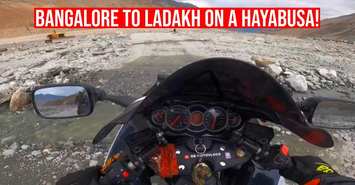 Bangalore to Ladakh on a Suzuki Hayabusa superbike? Vlogger shows how it's done