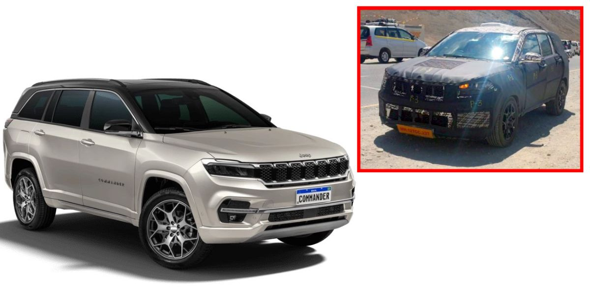 Jeep Commander (Meridian) 7 seat SUV spied testing at Ladakh ahead of India launch