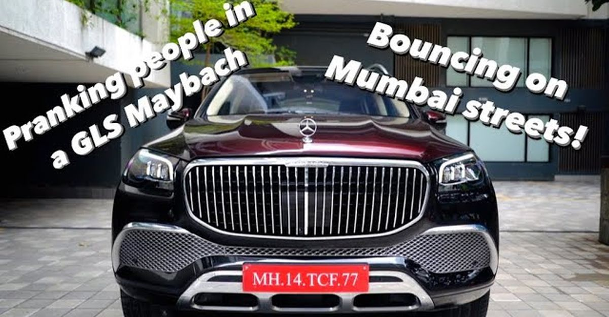 Mumbai vlogger in Mercedes Maybach GLS600 pranks people with 'bounce feature'