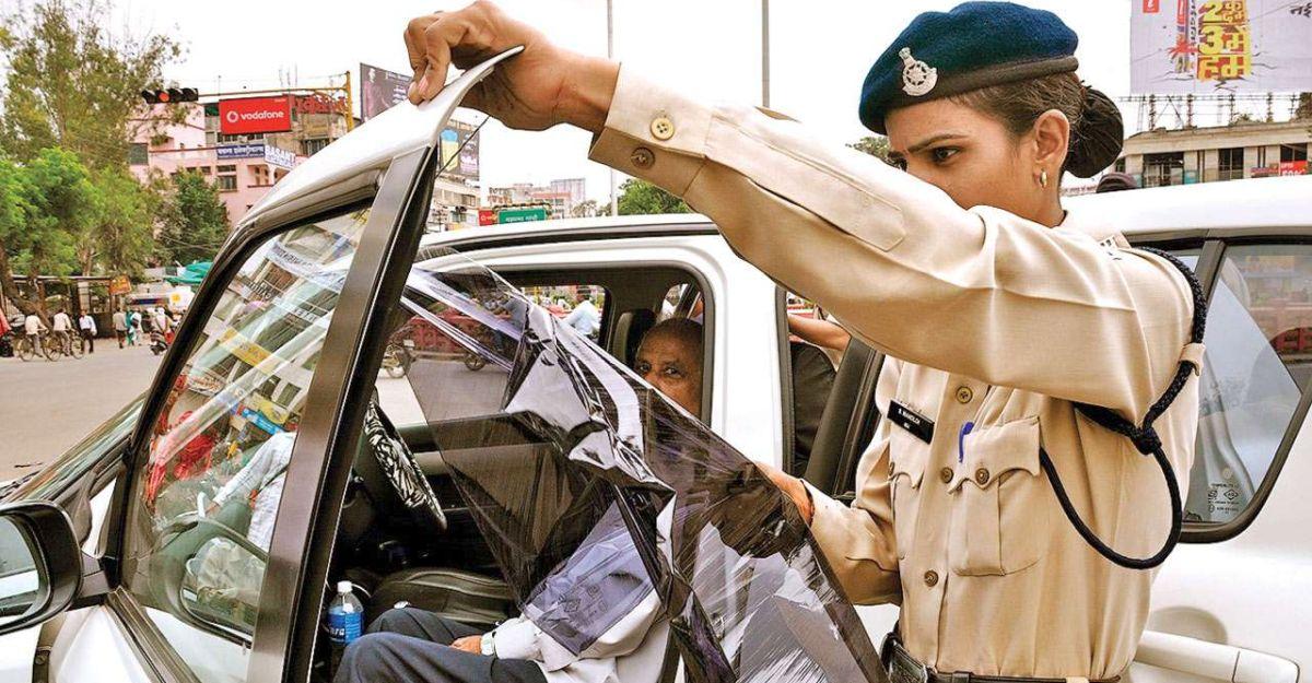 Gujarat police fine over 2,500 car owners for dark film on windows