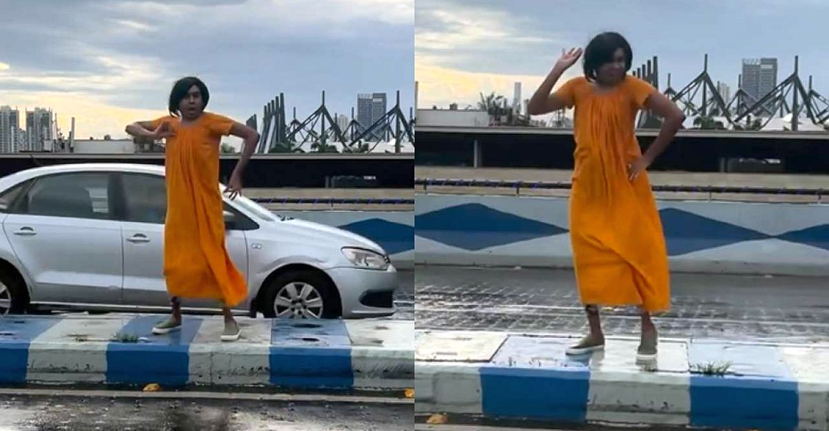 Influencer dances in the middle of flyover: Police issue fine