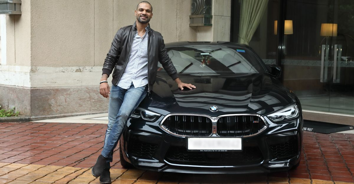 Cricketer Shikhar Dhawan's new ride is a BMW M8 Coupe worth over Rs. 2 crore