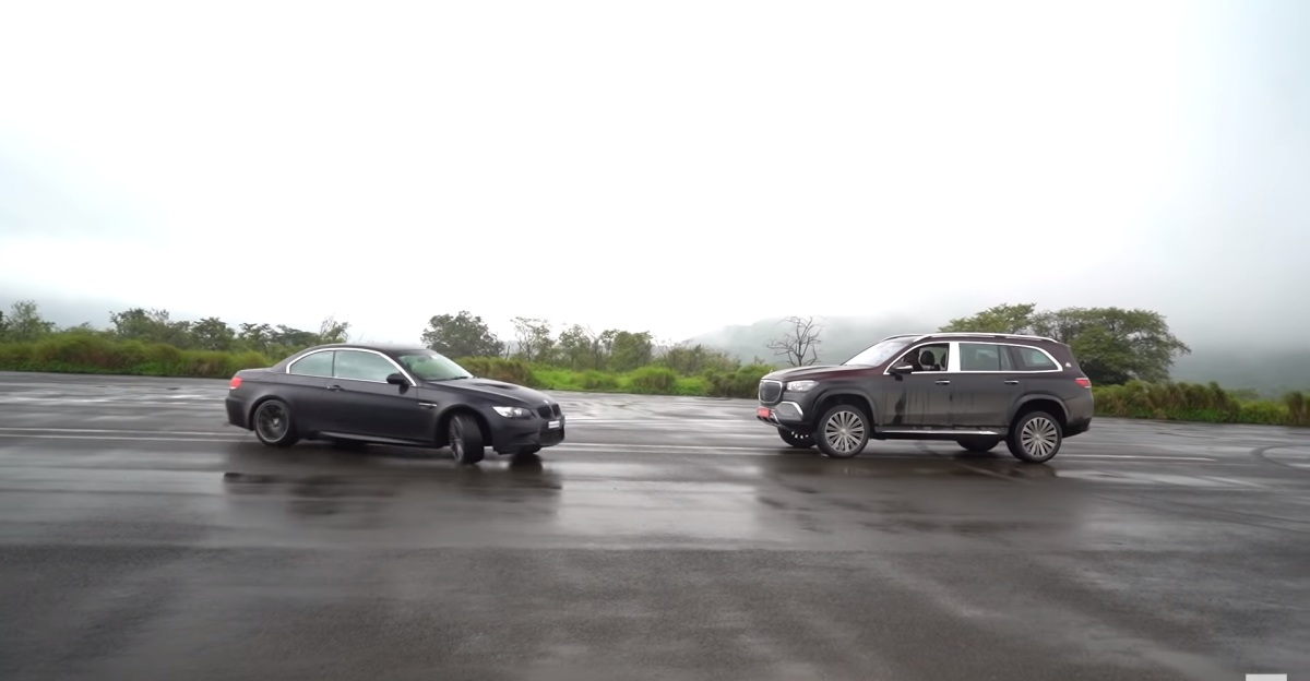 Watch sports cars drift around the new Mercedes-Maybach GLS600 super luxury SUV