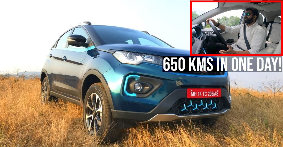 650 Kms in a single day in the Tata Nexon EV: Vlogger explains how he did it