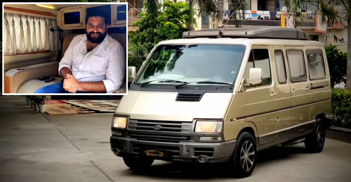 Beautifully kept Tata Winger Caravan is a living room on wheels: Selling at Rs. 6.95 lakh