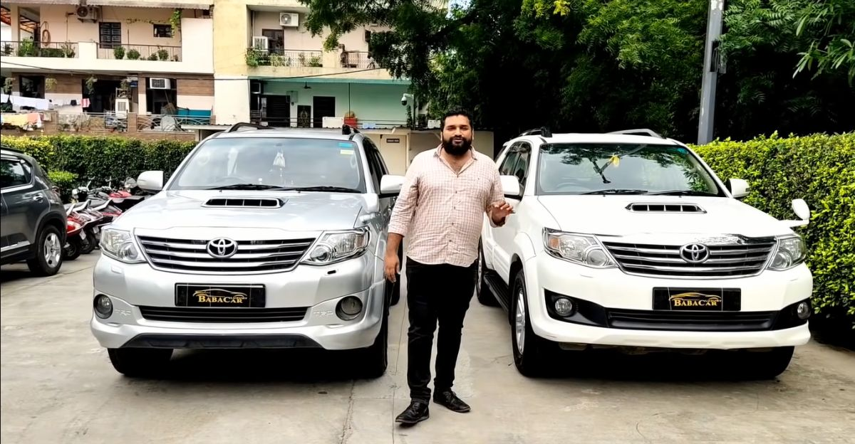 Well kept Toyota Fortuner Automatic SUVs with less than 100,000 Kms selling for Rs. 10 lakh