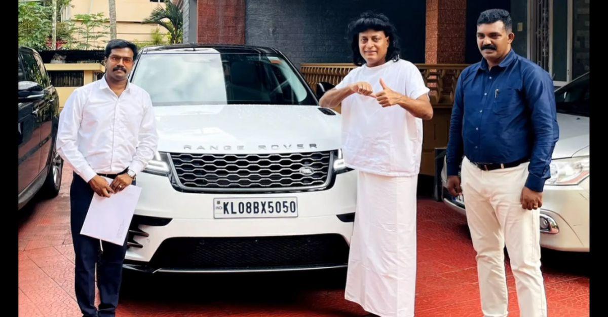 Kerala businessman Boby Chemmanur's new ride is a Range Rover Velar SUV