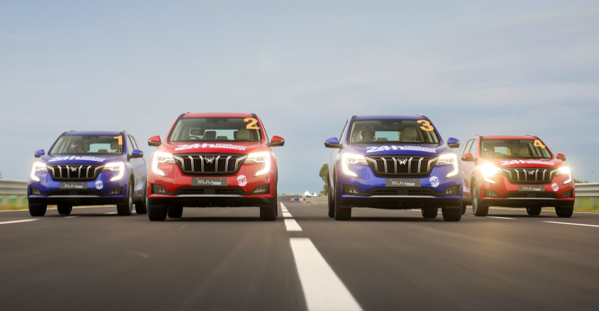 4 Mahindra XUV700s breaks national record to cover more than 4,000 km in 24 hours