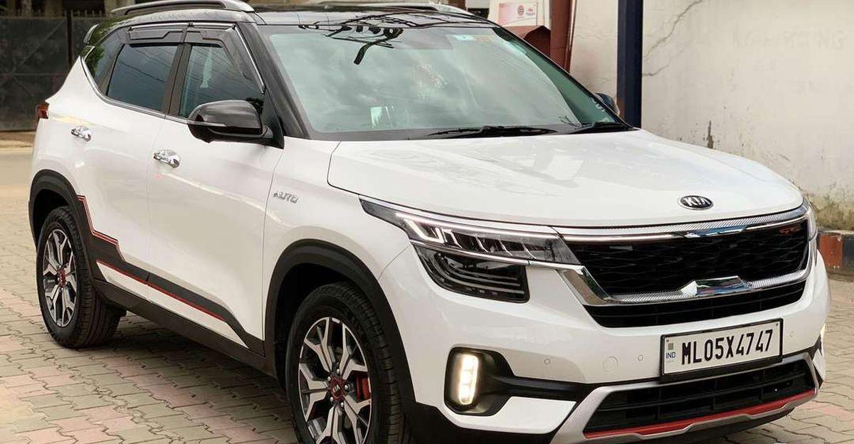 Almost-new 2021 Kia Seltos compact SUVs for sale