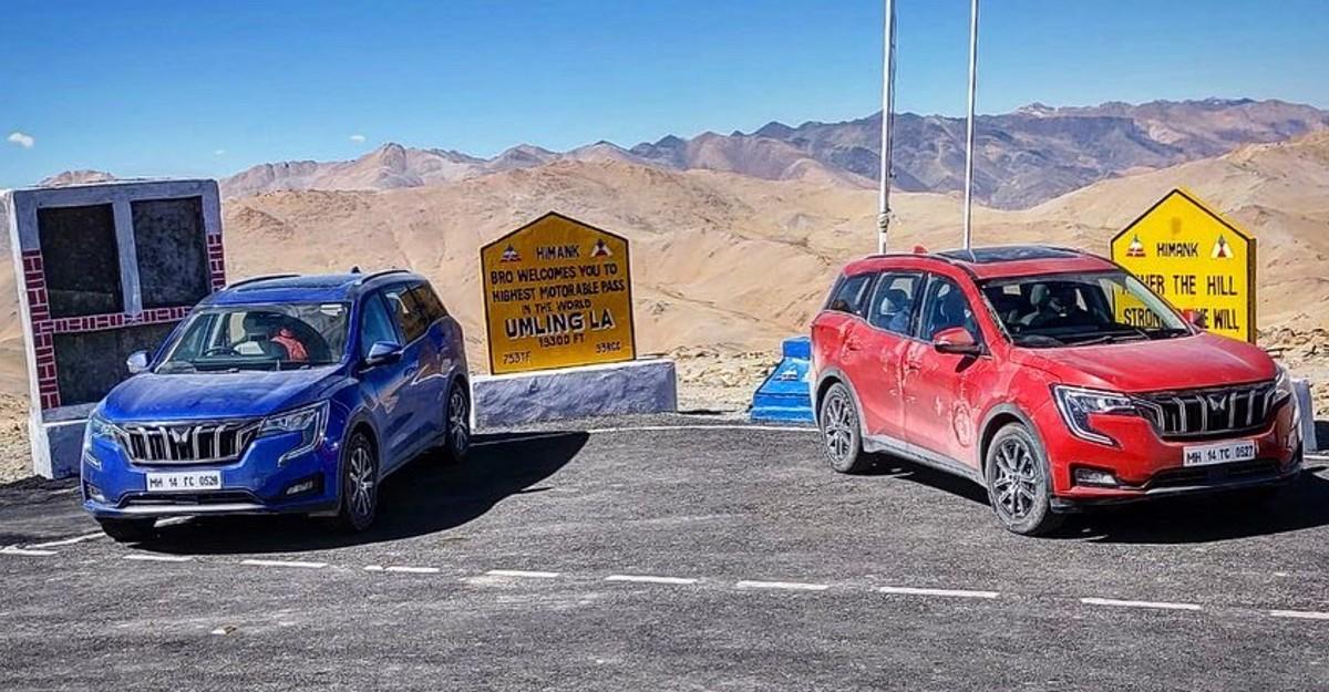 Mahindra XUV700 reaches Umling La; World's highest motorable road