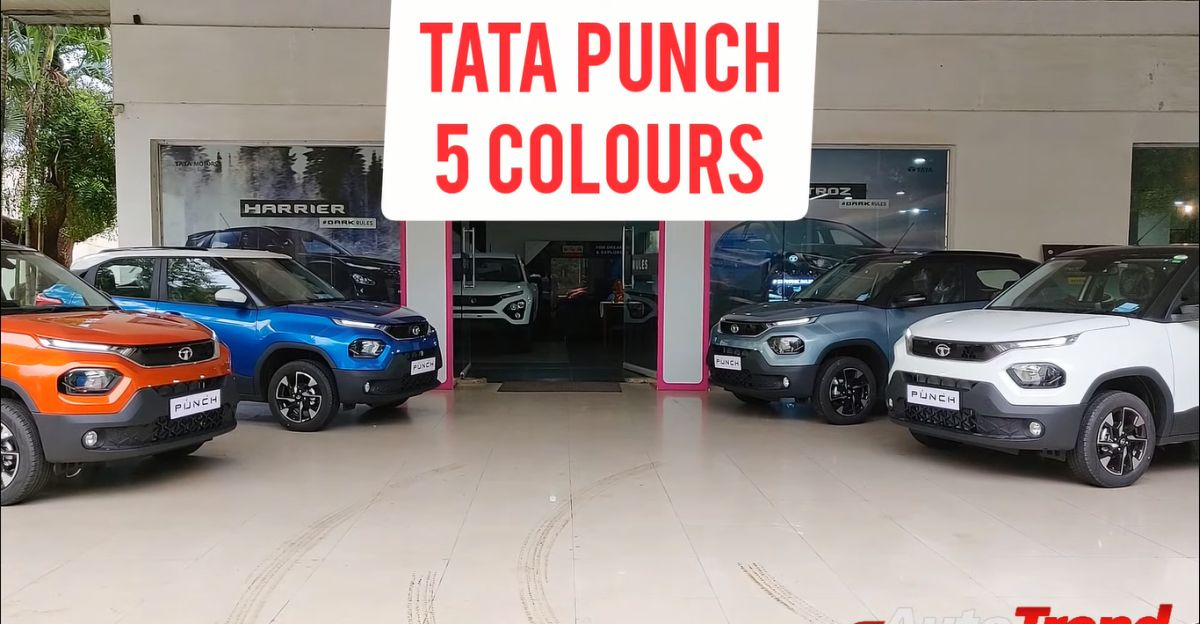 Tata Punch micro SUV: 5 colour options showcased in a walkaround video