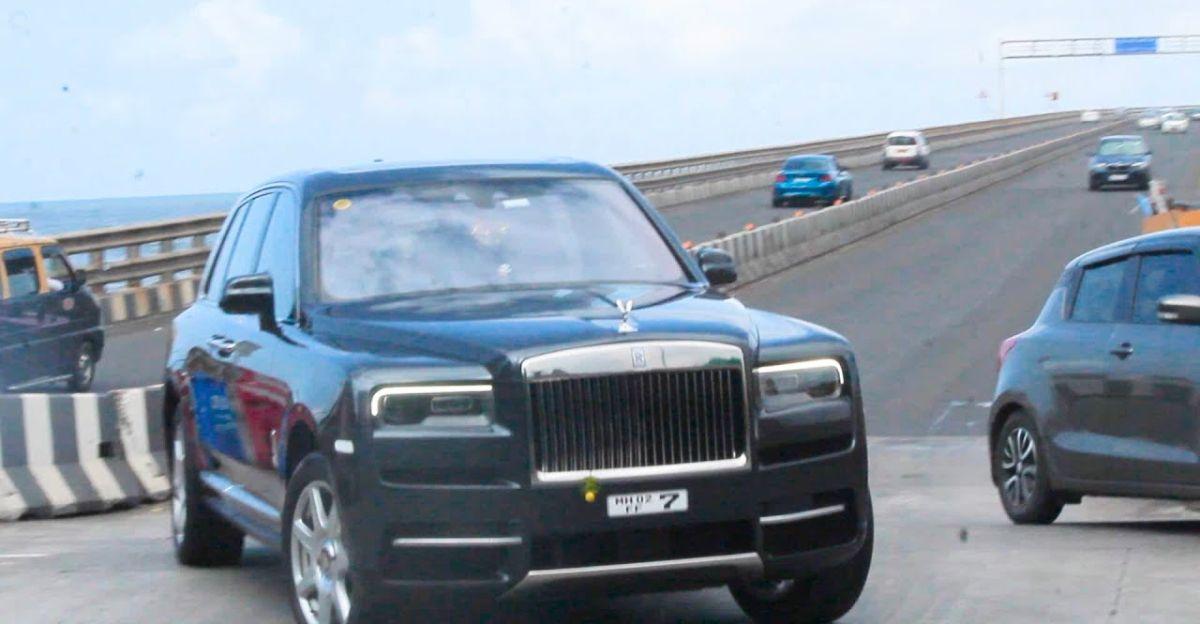 Actor Ajay Devgn Spotted in his multi-crore Rolls Royce Cullinan SUV