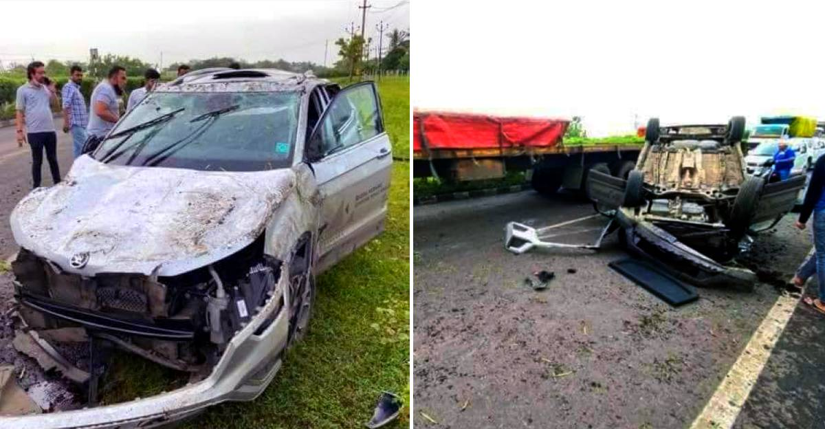 Skoda Kushaq overturns after massive crash: Sturdy build of SUV keeps occupants safe