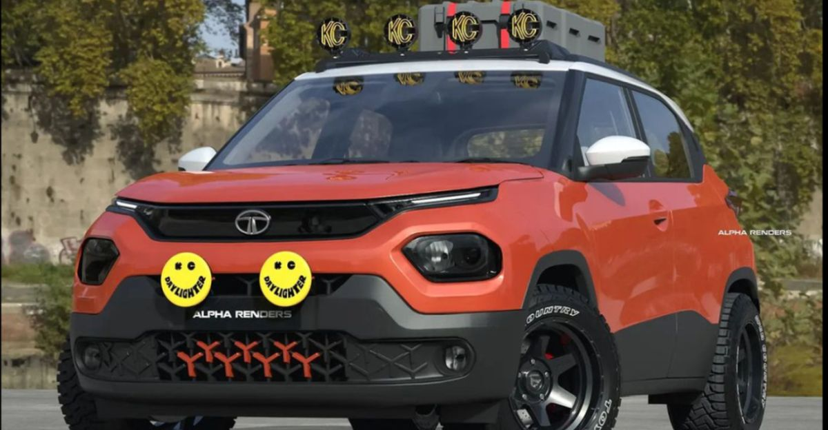 Tata Punch micro SUV re-imagined as a hard-core off roader