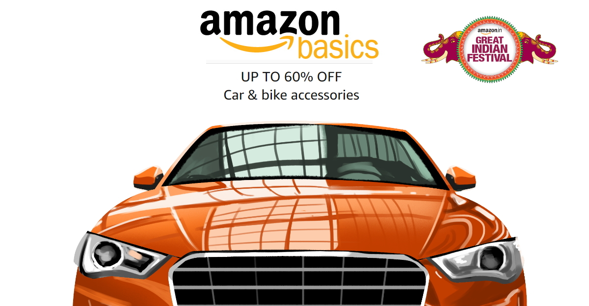 AmazonBasics car and bike products for you: Exploit the Great Indian Festival, live now!