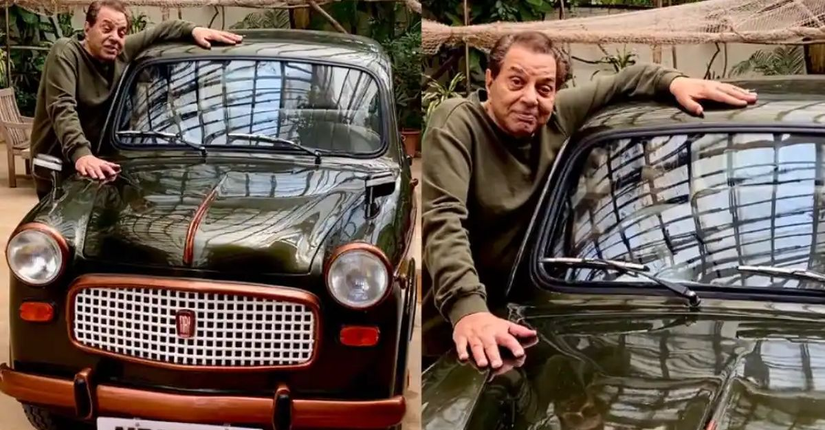 Bollywood actor Dharmendra posts video of Fiat 1100, his first car bought 60 years ago