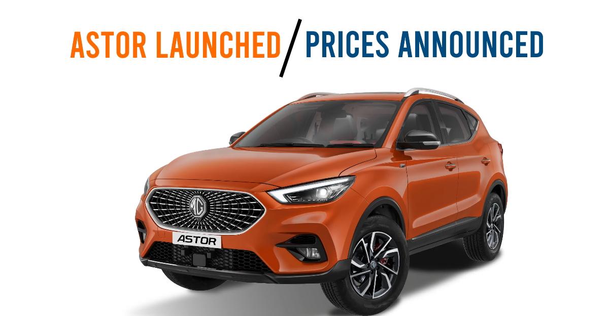 MG Astor compact SUV launched: Cheaper than Hyundai Creta & Kia Seltos