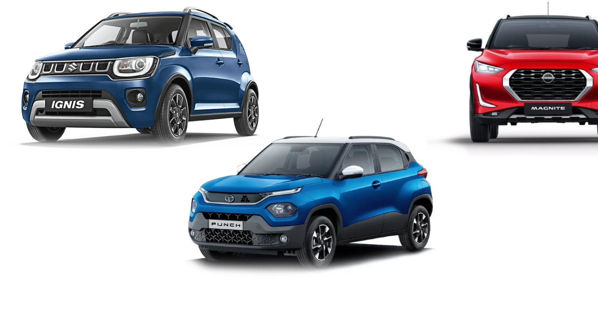 Tata Punch is longer and wider than Maruti Ignis and Mahindra KUV100: Size Comparison