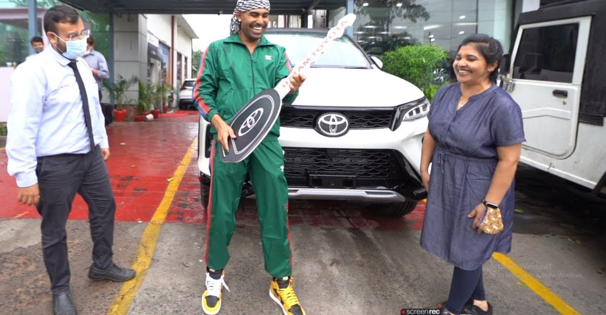 Delivery of India's first Toyota Legender 4x4 on video